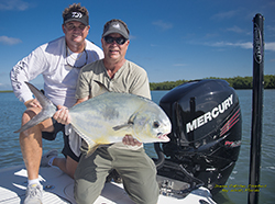 Permit fishing with Mercury 300 Pro Verado